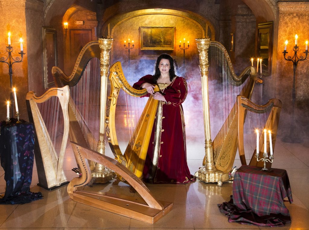 Banff Harpist Harp Angel at the Fairmont