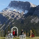 Banff Harpist - Harp Angel at Tunnel Mountain Wedding
