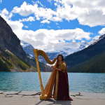 Harp Angel Harpist at Lake Louise