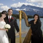 Harpist Harp Angel in the Canadian Rocky Mountains